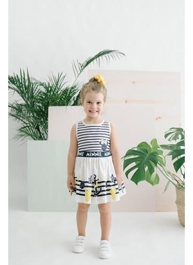 Minnie Mouse   Çocuk Elbise 15519 Beyaz